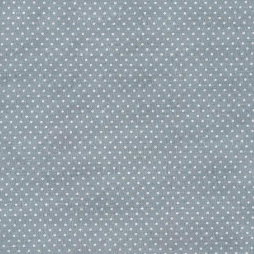 A.U Maison Dots Oilcloth, Dusty Blue, FREE SWATCH