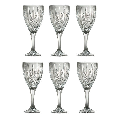 Galway Crystal Abbey Wine Goblet, Set Of 6