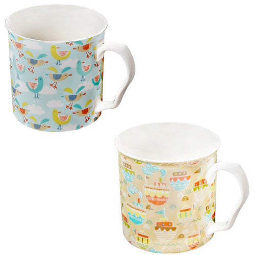 Shannonbridge Pottery Ahoy Mugs, Set Of 2 (b)