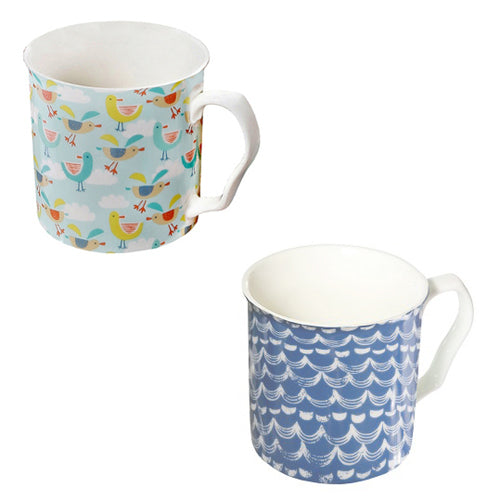 Shannonbridge Pottery Ahoy Mugs, Set Of 2 (c)