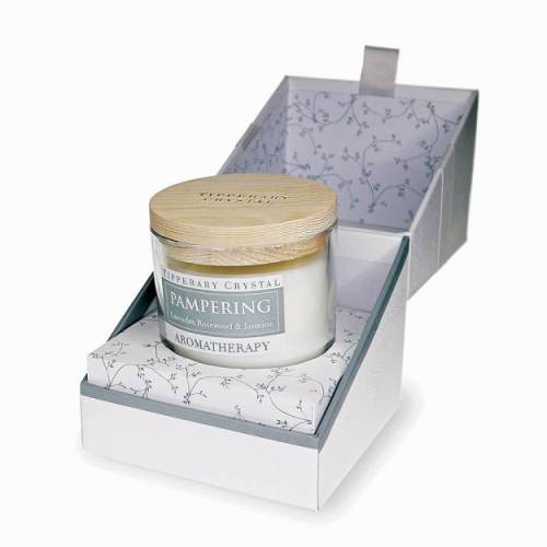 Tipperary Crystal Aromatherapy Candle, Pampering, Lavender, Rosewood & Jasmine