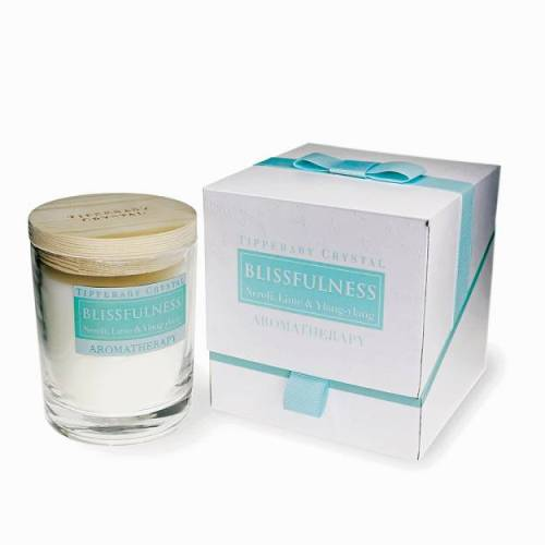 Tipperary Crystal Aromatherapy Candle, Blissfulness, Neroli, Lime & Ylang Ylang