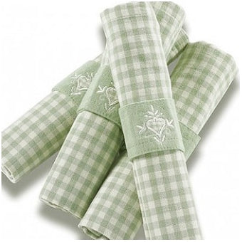 Walton & Co Auberge Napkin Set, 45cm, Duck Egg Green