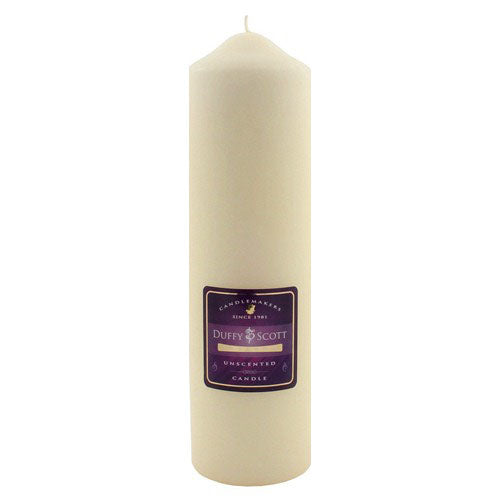 "Pillar Candle, Ivory, 10"" x 3"""