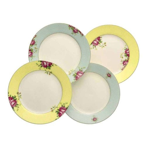 Aynsley Archive Rose Plates, Set Of 4