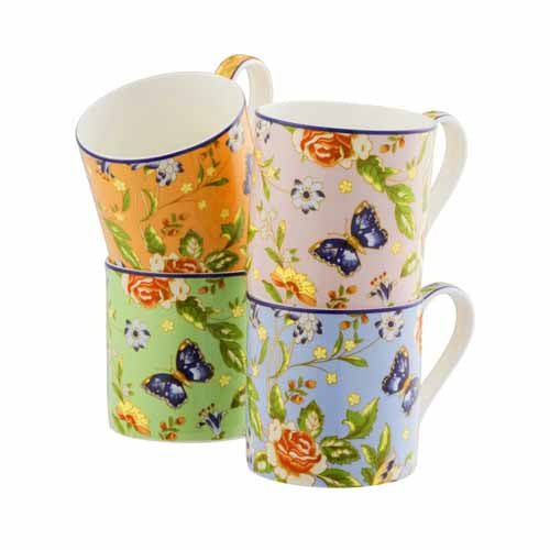 Aynsley Cottage Garden Mugs, Set Of 4