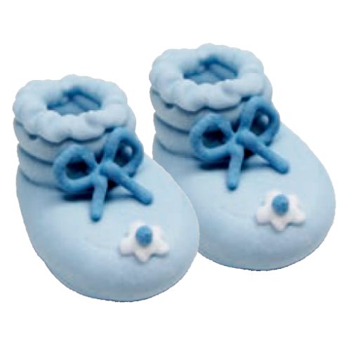 Sugarcraft Baby Booties, Pack of 6, Blue