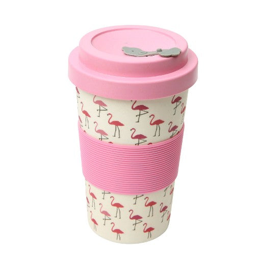 'BamBroo' Drinks Mug, 400ml, Flamingo