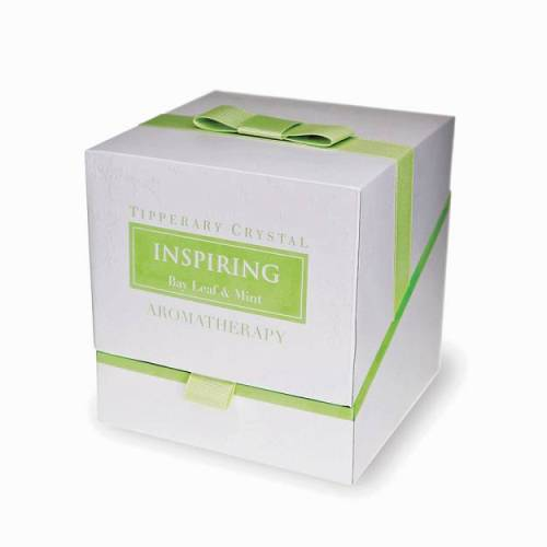 Tipperary Crystal Aromatherapy Candle, Inspiring, Bay Leaf & Mint