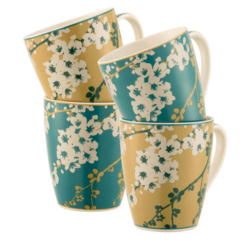 Belleek Living Bellevue Mugs, Set Of 4
