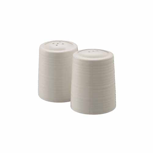 Belleek Living Ripple Salt & Pepper Shakers