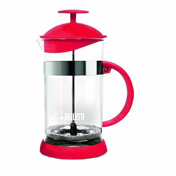 Bialetti Joy Coffee Press/Cafetiere, 8 Cup, Red