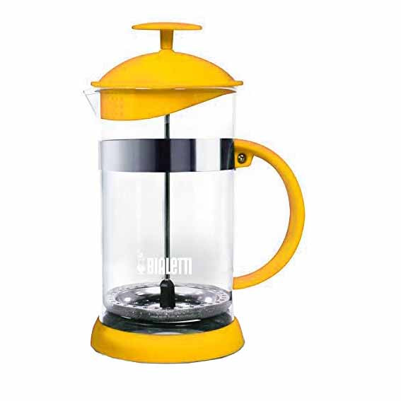 Bialetti Joy Coffee Press/Cafetiere, 8 Cup, Yellow