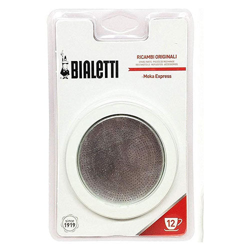 Bialetti Moka Express Replacement Filter/Gasket, 12 Cup