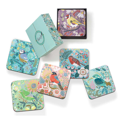 Tipperary Crystal Birdy Drinks Coasters, Set Of 6