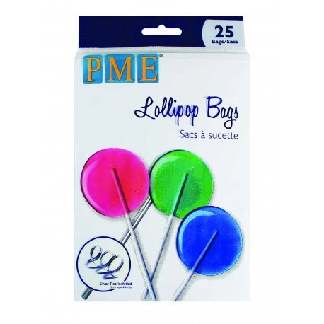 Lollipop Bags With Silver Ties