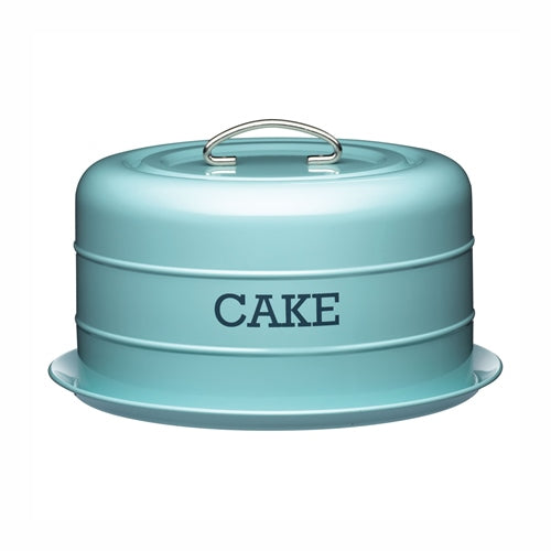 Living Nostalgia Domed Cake Tin, Vintage Blue
