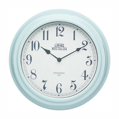 Living Nostalgia Wall Clock, Vintage Blue