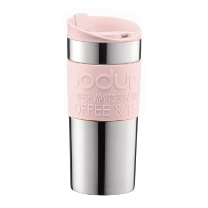Bodum Double Walled Travel Mug, 12oz, Strawberry