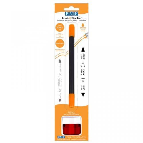 PME Brush n Fine Refillable Pen, Orange