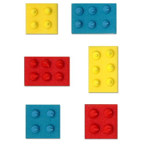 Sugarcraft Building Blocks Cake Toppers, 6 Piece