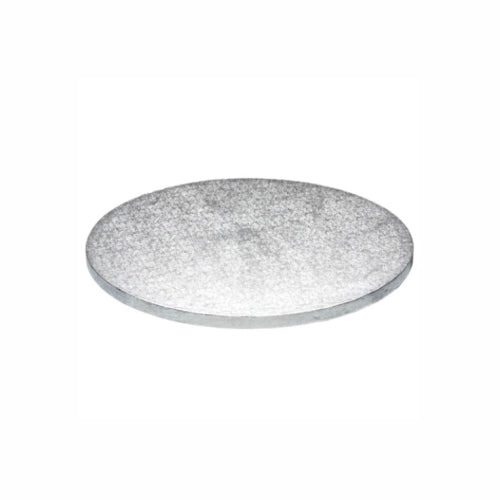 "Round Cake Board, Deep, 10"", Silver"