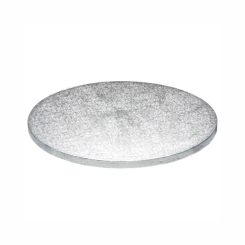 "Round Cake Board, Deep, 14"", Silver"