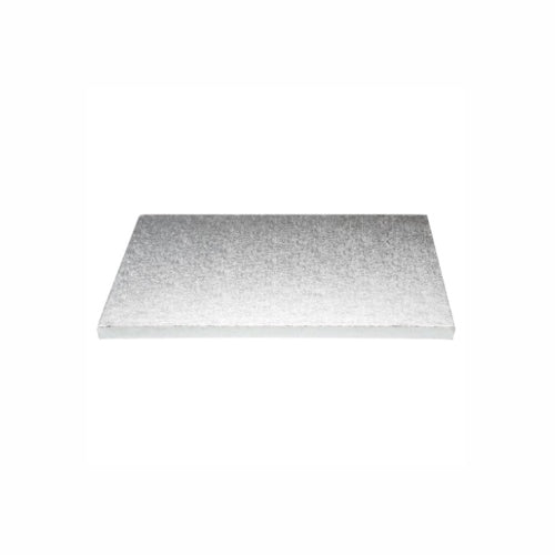 "Square Cake Board, Deep, 10"", Silver"