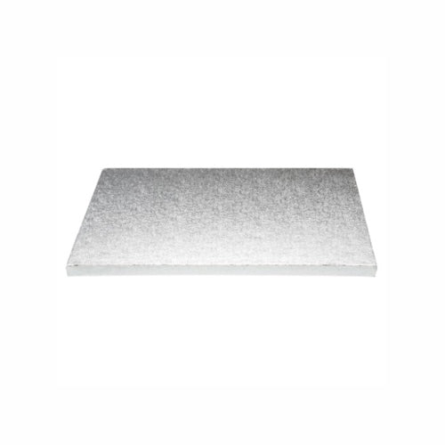 "Square Cake Board, Deep, 12"", Silver"