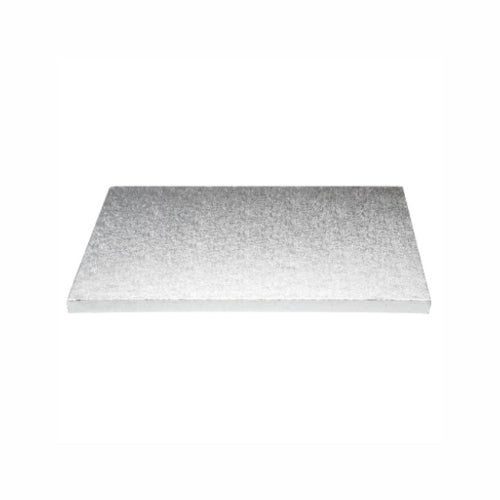 "Square Cake Board, Deep, 13"", Silver"