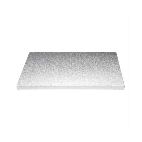 "Square Cake Board, Deep, 14"", Silver"