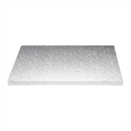 "Square Cake Board, Deep, 18"", Silver"