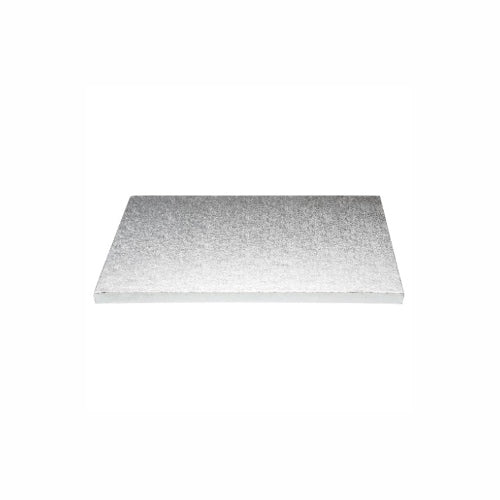 "Square Cake Board, Deep, 9"", Silver"