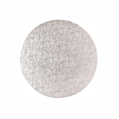 "Round Cake Card, Thin, 10"", Silver"