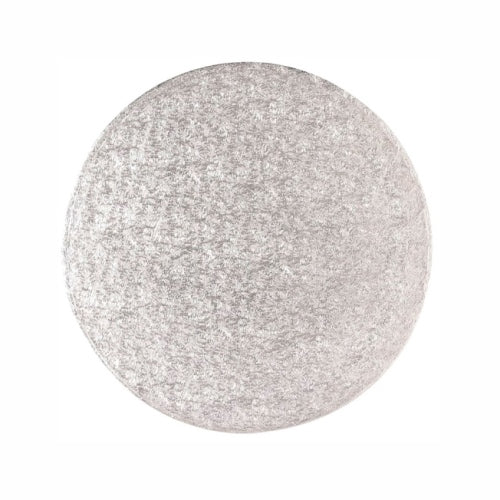 "Round Cake Card, Thin, 13"", Silver"