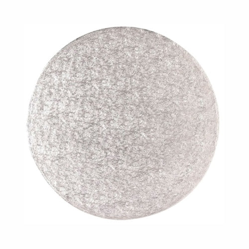 "Round Cake Card, Thin, 14"", Silver"