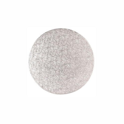 "Round Cake Card, Thin, 4"", Silver"