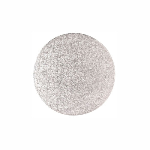 "Round Cake Card, Thin, 5"", Silver"