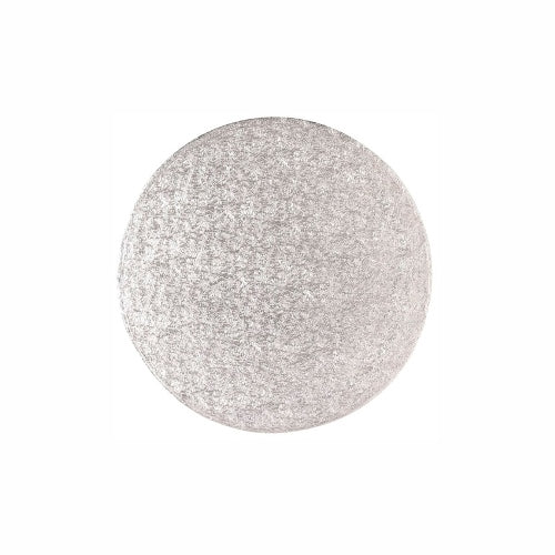 "Round Cake Card, Thin, 6"", Silver"
