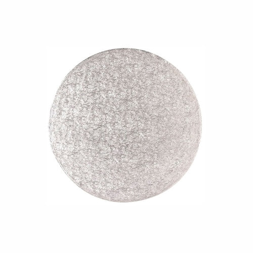 "Round Cake Card, Thin, 8"", Silver"