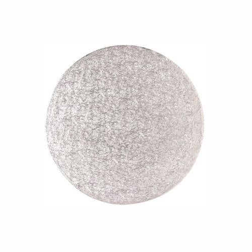 "Round Cake Card, Thin, 9"", Silver"