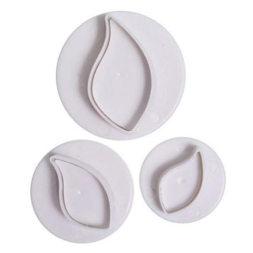 Cake Star Plunger Cutters, Set Of 3, Curved Leaf