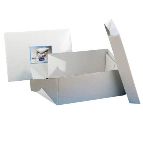 "Oblong White Cake Box, 17"" x 13"""