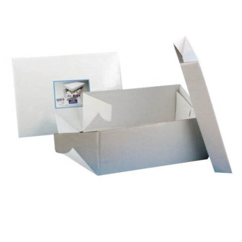 "Oblong White Cake Box, 15"" x 11"""