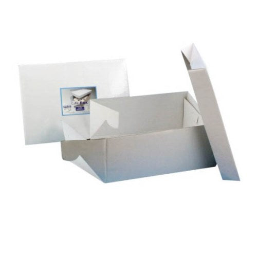 "Oblong White Cake Box, 14"" x 10"""