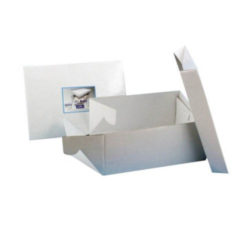"Oblong White Cake Box, 13"" x 9"""