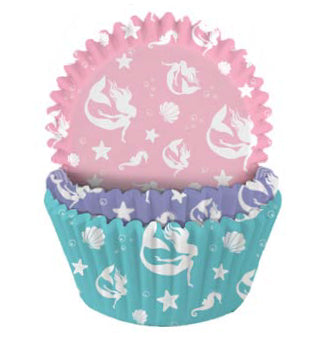 Cupcake Cases, Pack of 75, Mermaid