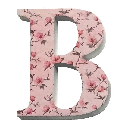 Pink Wooden Chintz Letter, 'B'