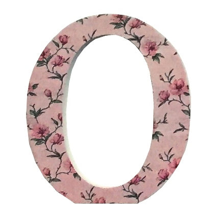 Pink Wooden Chintz Letter, 'O'