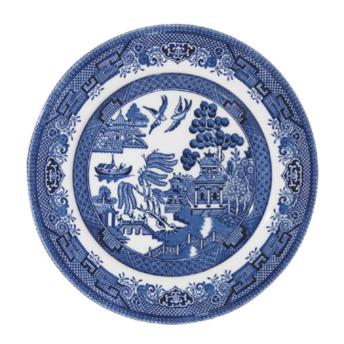 Churchill Blue Willow Pattern Breakfast/Salad Plate, 20cm